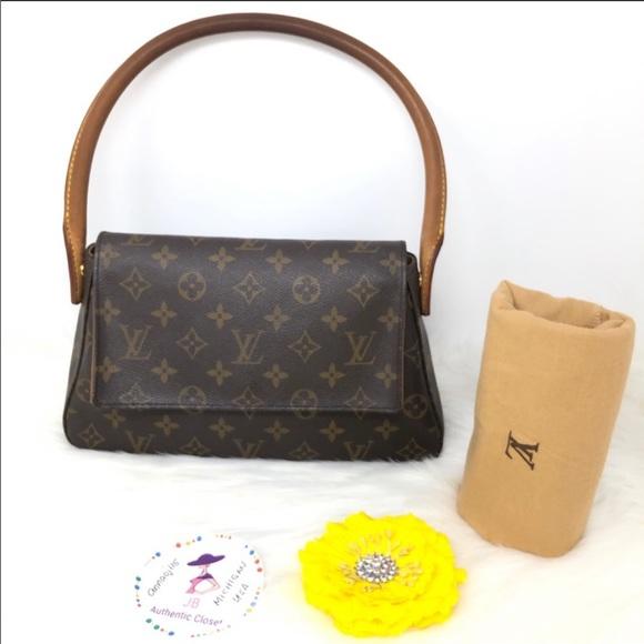 100 Authentic Mini Louis Vuitton Made In France Has No Date >> Louis Vuitton Monogram Looping Mini Bag